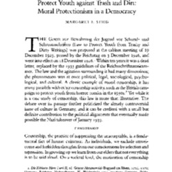 Stieg - The 1926 German Law to Protect Youth - Moral Protectionism in a Democracy.pdf