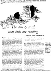 The Dirt & Trash That Kids are Reading: AND WHAT CAN BE DONE ABOUT IT